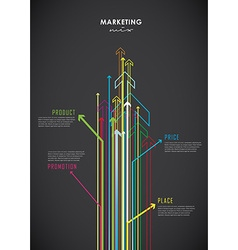 Marketing mix business infographic background with vector