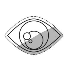 Isolated eye of security design vector