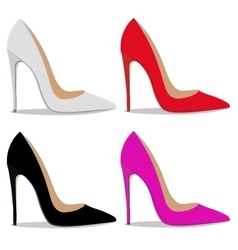 Realistic ladies shoe vector