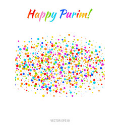 purim flyer carnival paper confetti background vector image