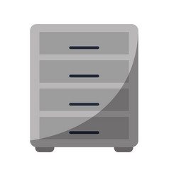 File cabinet archive workplace vector
