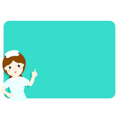 Nurse explains at the blank board vector