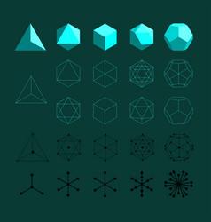 Platonic solids vector