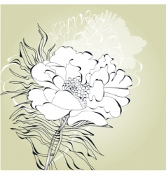 Romantic card with white flower vector