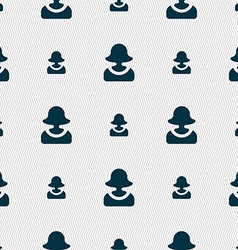 Female silhouette icon sign seamless pattern with vector