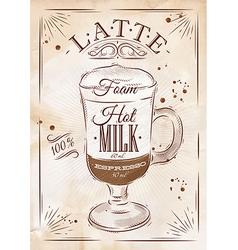 Poster latte kraft vector
