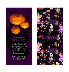 Invitation for kids halloween party vector