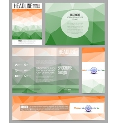 Set of business templates for presentation vector