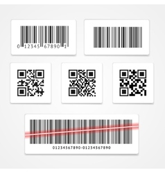 Barcode tag or sticker set vector