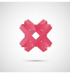 Beautiful color origami creative icon design eps vector