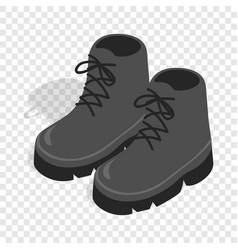 Black boots isometric icon vector