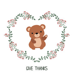 card with bear card with bear vector image