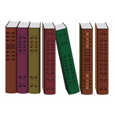 collection of books on white background vector image vector image