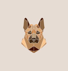 german shepherd dog portrait vector image vector image