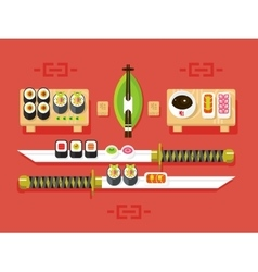 Japanese cuisine sushi vector image vector image