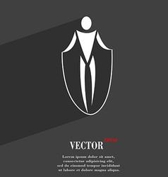 Jump rope symbol flat modern web design with long vector