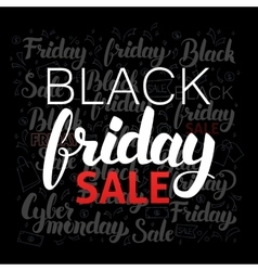 Lettering black friday sale vector