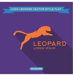 Logo wild felines into flat icon vector