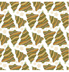 New year and christmas seamless pattern cartoon vector
