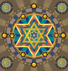 pattern stars vector image