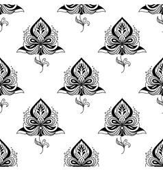 Persian paisley seamless pattern vector image