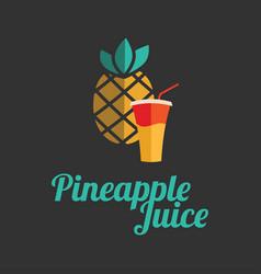 Pineapple juice banner or menu vector