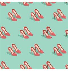 Red heels vector image vector image