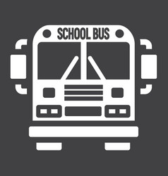 School bus solid icon transport and vehicle vector