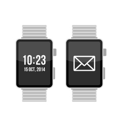 Smart Watch Set on White Background vector image vector image