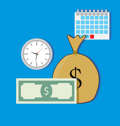 time salary vector image vector image