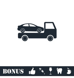 Tow car evacuation icon flat vector image