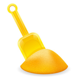 yellow beach shovel childrens toy for sand stock vector image