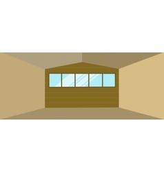 Warehouse hangar building vector