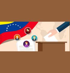 Venezuela democracy political process selecting vector