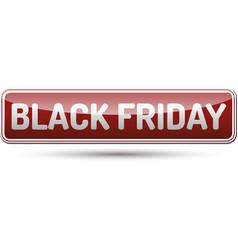 Black friday button vector