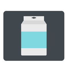 Box of milk icon isolated vector