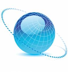globe-dotted vector image