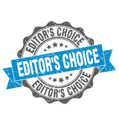 Editors choice stamp sign seal vector
