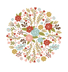 Floral for a greeting card or other vector