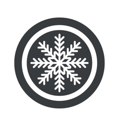 Round black winter sign vector