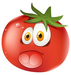 Fresh tomato with face vector