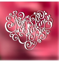 Valentines day vintage lettering card vector