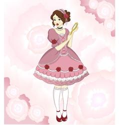romantic girl vector image