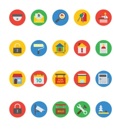 Real Estate Icons 4 vector image