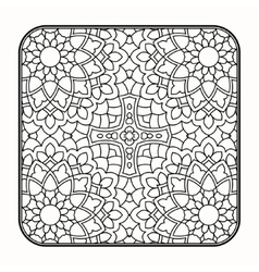 Invitation card with mandala vector