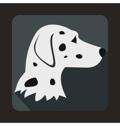 Dalmatians dog icon flat style vector
