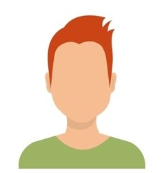 Young male profile avatar isolated on white vector