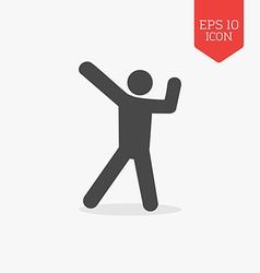 Dancing man icon flat design gray color symbol vector
