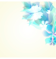 Abstract artistic Background with blue floral vector image vector image