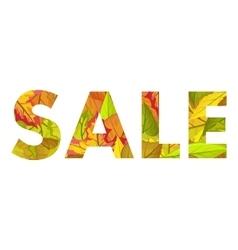 Autumn sale concept in flat design vector